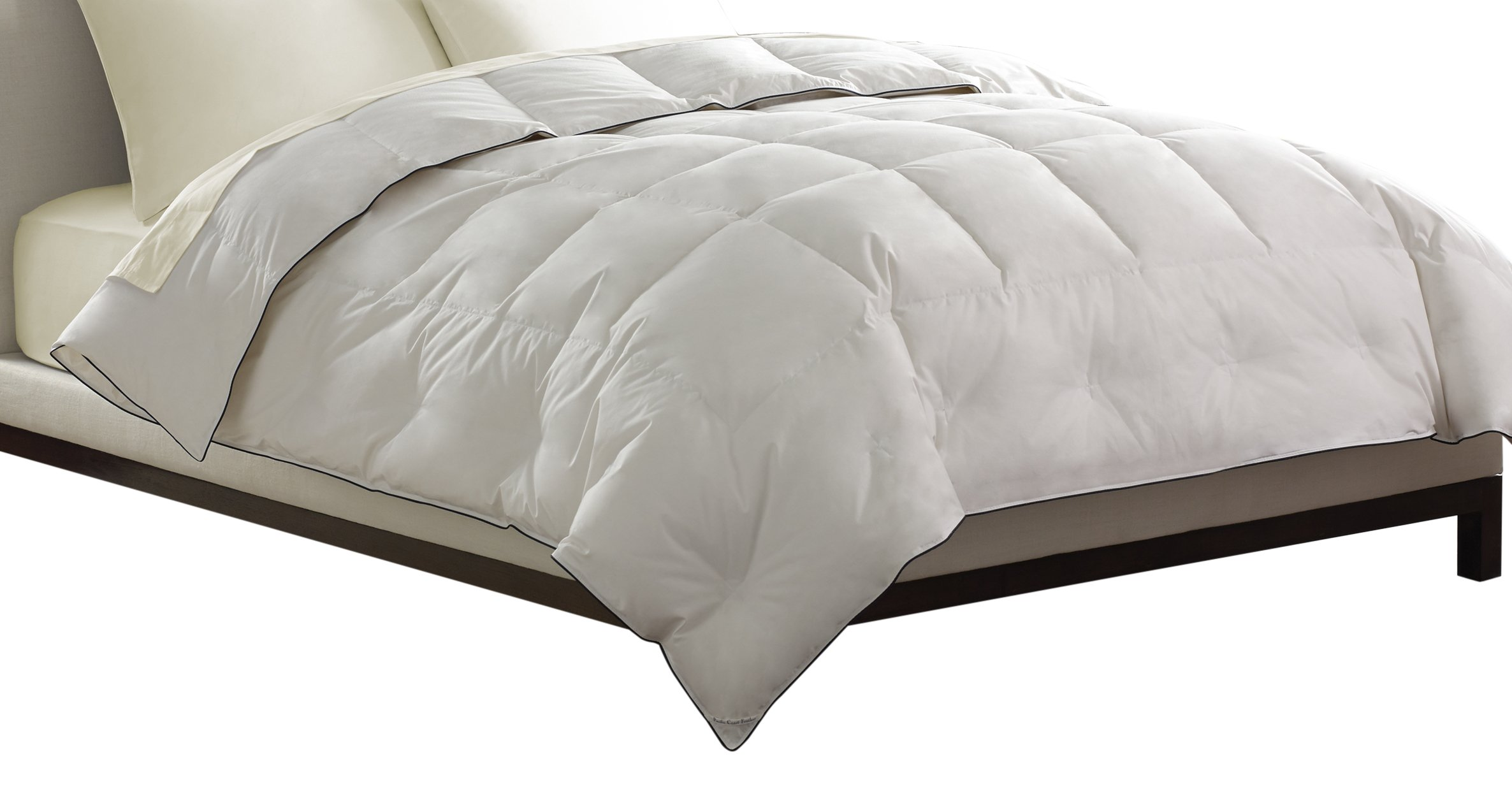 Pacific Coast Feather Company 67823 Light Warmth Down Comforter, Cotton Cover, Hypoallergenic, King