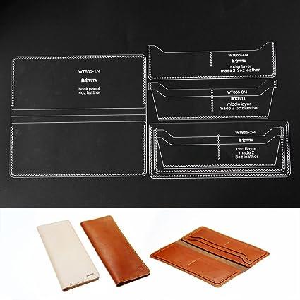 amazon com wuta acrylic pattern for 8 card slots long wallet