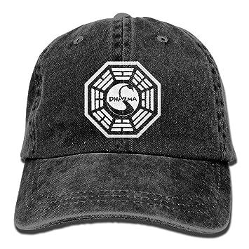Ejdkdo Dharma Swan Logo para Unisex Ajustable Algodón Denim Cap ...