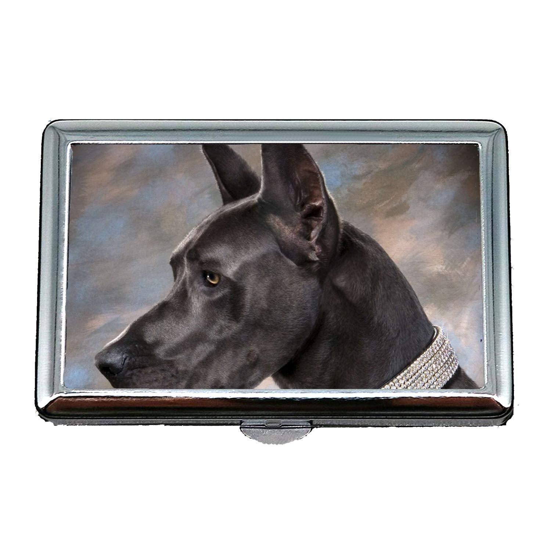 Halber Hund Husky Hund Visitenkarten sauber Zigarettenetui Leicht