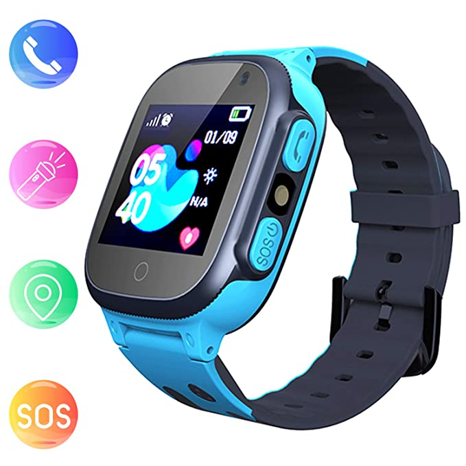 15 opinioni per Smartwatch per Bambini, Jslai GPS/LBS Tracker Orologio Digitale Wrist Watch per