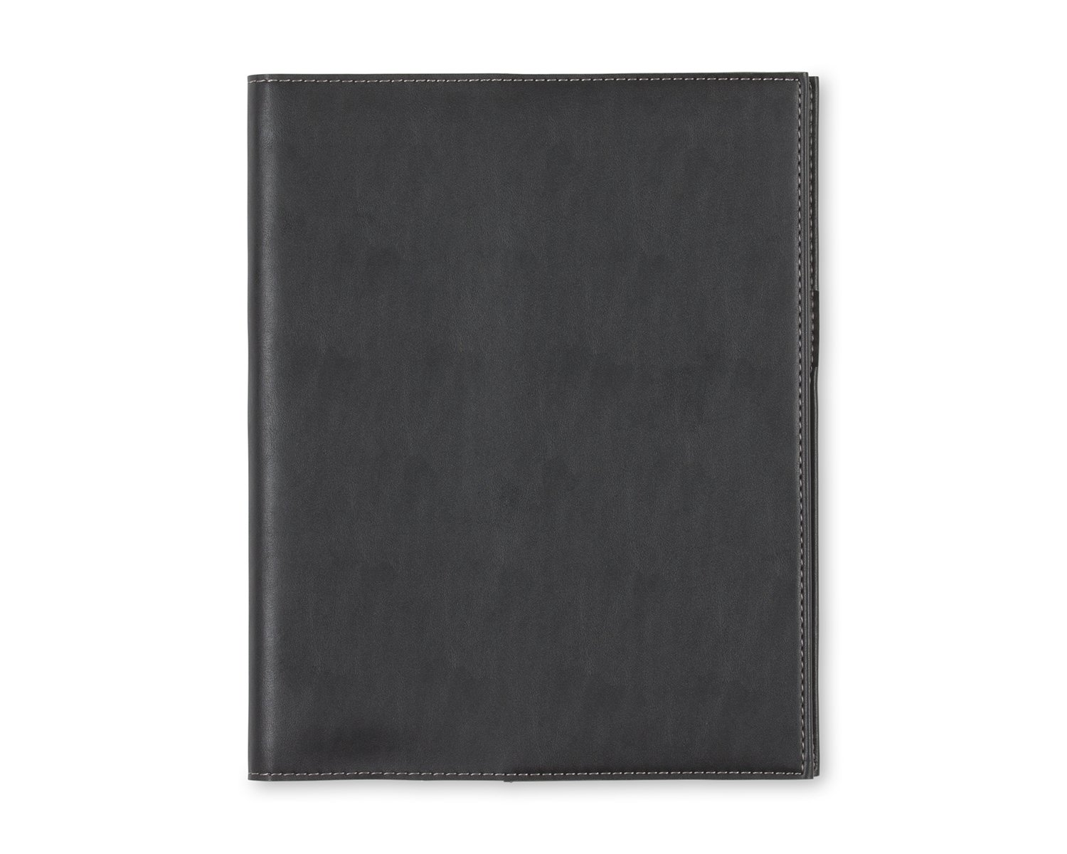 Blue Sky Professional Notebook, Leather-Like Textured Cover, Twin-Wire Binding, 8.5'' x 11'', Black by Blue Sky (Image #1)