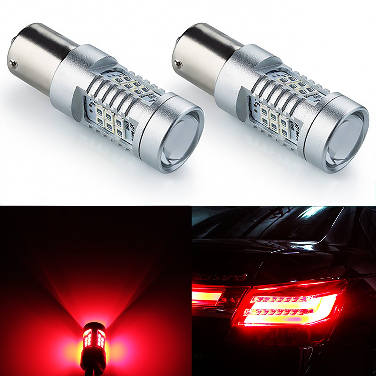 Jdm Astar Extremely Bright Px Chipsets 1157 2057 2357 Acura Rl Fuse Box 7528 Led Bulbs Brilliant Red Automotive