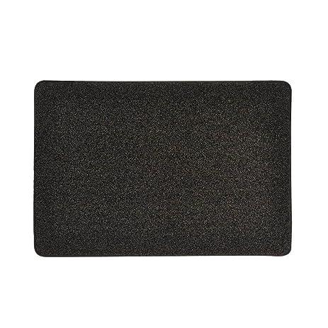 Grand Era Front Door Welcome Mat Large Outdoor Indoor Entrance Doormat  Charcoal Black Polypropylene Waterproof Low