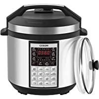COSORI Upgraded 8-in-1 6 Qt Electrical Pressure Cooker with Instant Stainless Steel Pot, 19 Program Slow Cooker, Rice Cooker, Yogurt Maker, Sauté, Steamer, Warmer, Extra Sealing Ring, 2-Year Warranty
