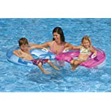Floating Lounge Seat - Inflatable Pool Float with Built-in Cup Holders by Intex