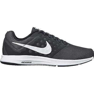 Nike Women's Downshifter 7 Running Shoe, Black/White, 12 B(M) US | Road Running