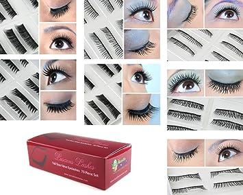 9e00a3a0706 Amazon.com: Bundle Monster 70 Pairs Fake/False Eyelashes - 7 ...