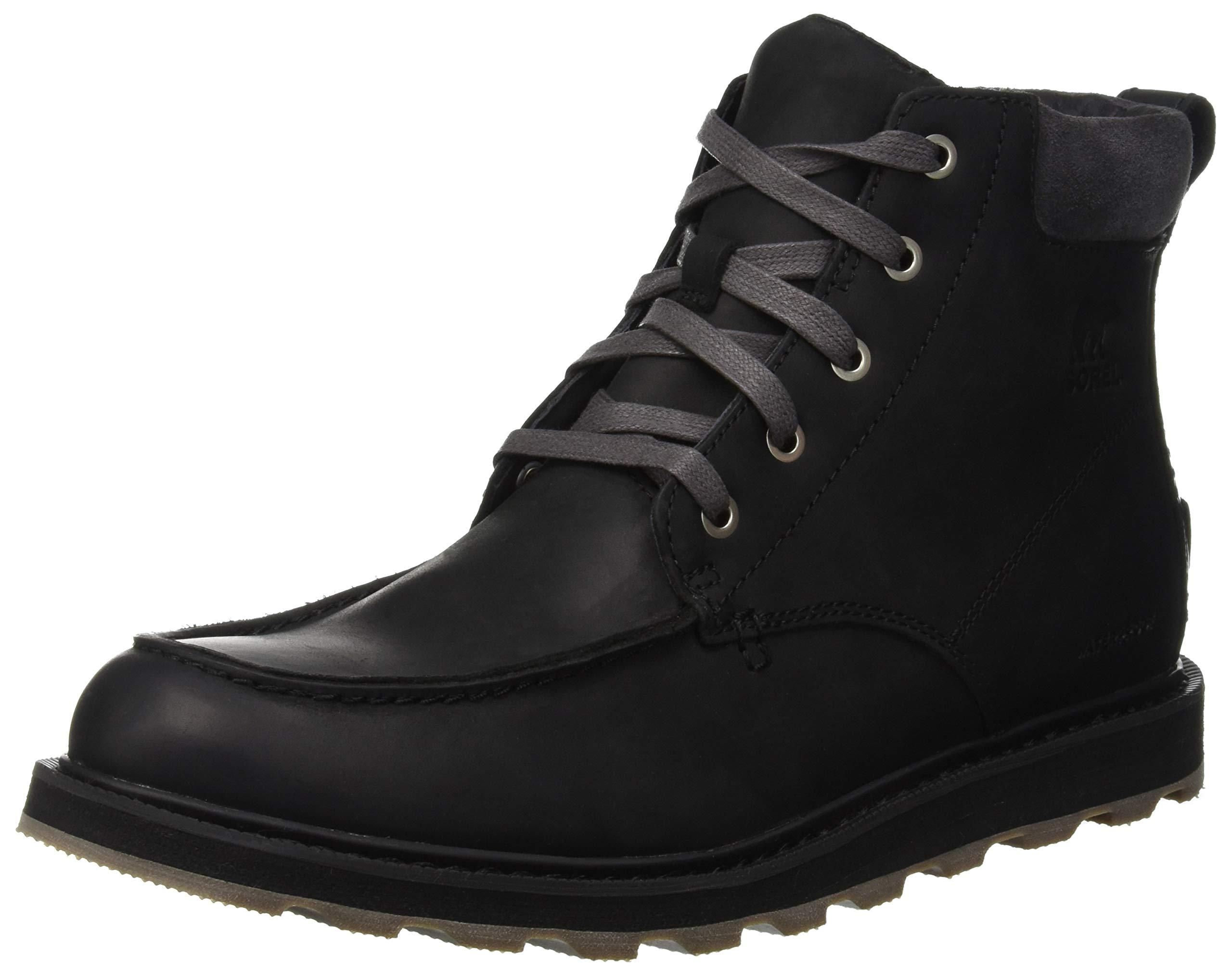 SOREL Madson Moc Toe Waterproof Boot - Men's Black/Dark Grey, 9.5