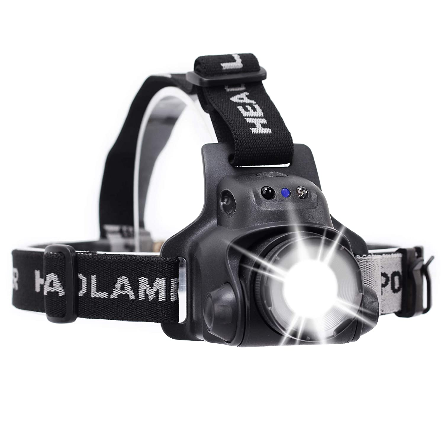 TOS Headlamp Adjustable Focal Length and Adjustable Angle Headlight Super Bright Waterproof Flashlight Intelligent Induction Headlamp Source Focusing Searchlight Head Lights for Camping Hiking Outdoo