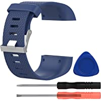 "Awinner Bands for Fitbit Surge,Silicone Replacement Band for Fitbit Surge Wireless Activity Wristband Watch Fitness Tracker WatchBand (Dark Blue, Small (5.5""-6.3""))"