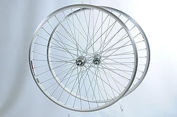 ROAD Bike Cycle Wheel Alloy Rim /& Alloy Hub 700c REAR NARROW HYBRID