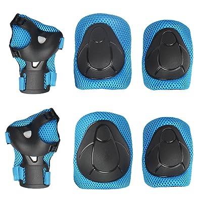 Andux Zone Skateboard Équipement de Protection Enfant Protections de Roller Inline Skating Velo Cyclisme Bicyclette ETHJTZ-01
