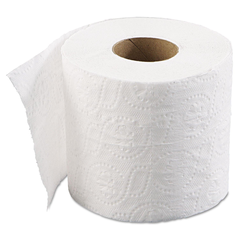 4 X 3 Sheet 2-Ply 500 Sheets//roll Standard White Boardwalk 6145 Bathroom Tissue 96//Carton