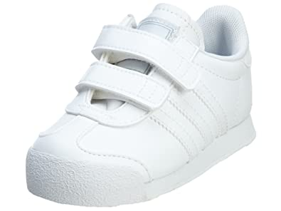 adidas Samoa Toddler Kids Shoes Running White Metal Silver G99722 (5 M US  Toddler 6b3ce2558554