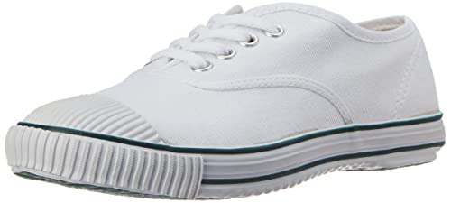 38ab3d495c62 BATA Boy s Tennis White Canvas Formal Shoes - 4 Kids UK India (22 EU)  (4391379)  Buy Online at Low Prices in India - Amazon.in