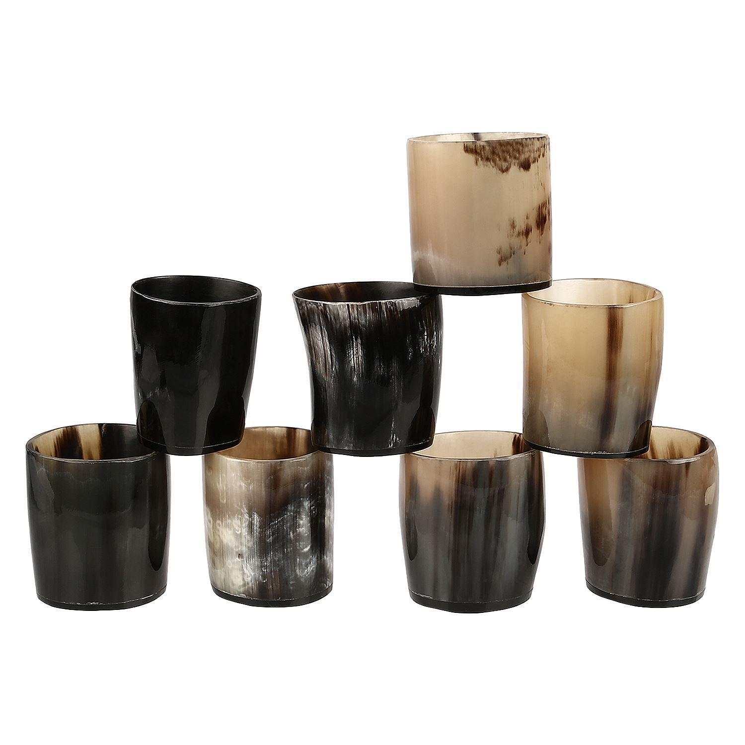 Antique Whiskey Shot Glass Cup Whisky Dram Real Horn Glass Goblet Vintage Set Glasses from Handicrafts Home USA