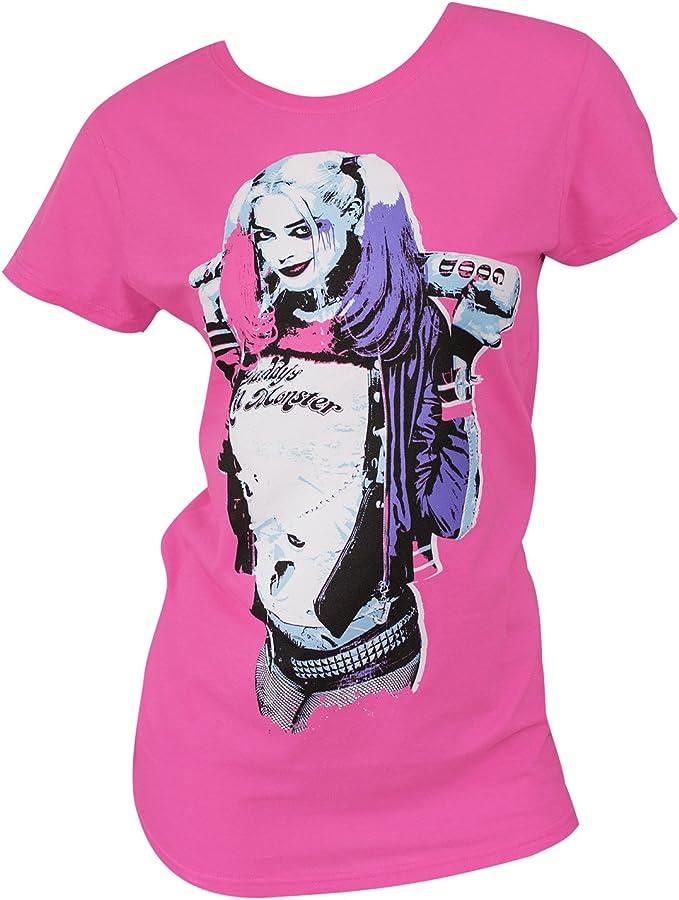 Suicide Squad Harley Quinn - Camiseta para niños, color rosa