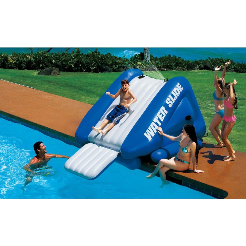 amazoncom intex kool splash inflatable swimming pool water slide accessory 58851ep toys games