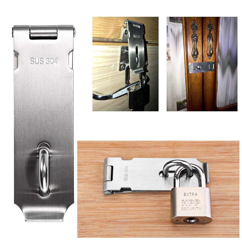Chrome Plated Defender Security U 9847 Patio Sliding Door Loop Lock Install Additional Child-Safe Security 2-1//8 Hardened Steel Bar with Diecast Base Premium Pack Increase Home Security