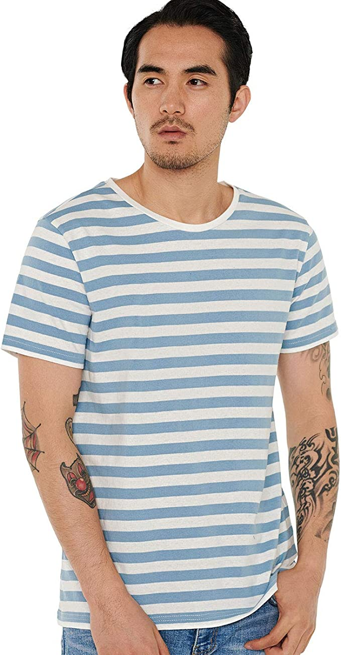 blue striped t shirt mens