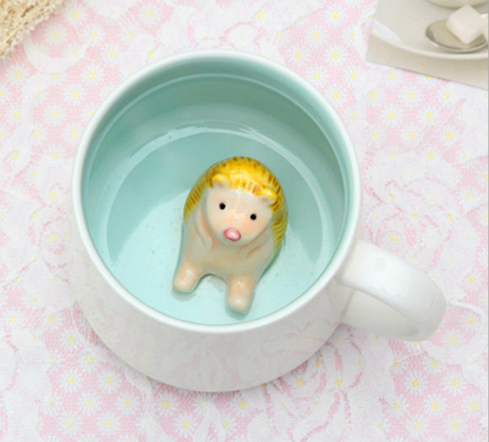 Hedgehog Inside Funny 3D Coffee Mug - 13.5 OZ Large Ceramic Tea Cup Birthday Gifts For Women Or Men, Brother Or Sister - Gag Gift For Coworker