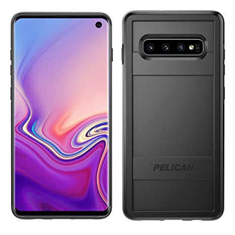 new arrival b2ba5 5f13e Pelican Protector Samsung Galaxy S10 Phone Case, Drop-Tested Protective  Smartphone Cover, Wireless Charging-Compatible Accessory (Black)