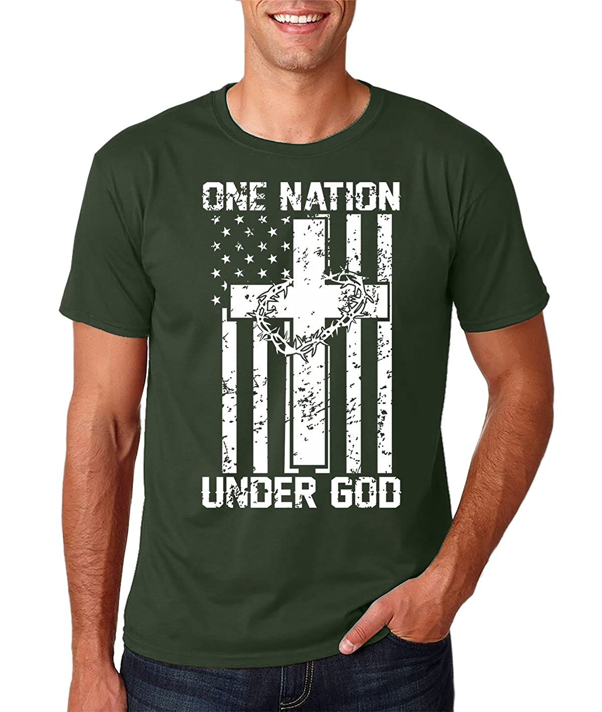 Funnwear One Nation Under God, 100% Prime With Unique Design T-shit Shirts