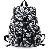 Douguyan Canvas Backpack Girl Casual Shoulder Bag Laptop School Backpack