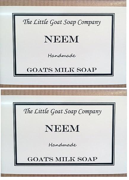 2 x Neem cabras leche jabón 100 G. Eczema, Psoriasis, dermatitis.