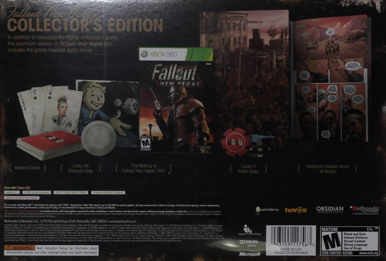 Amazon Com Fallout New Vegas Collector S Edition Xbox 360 Video Games