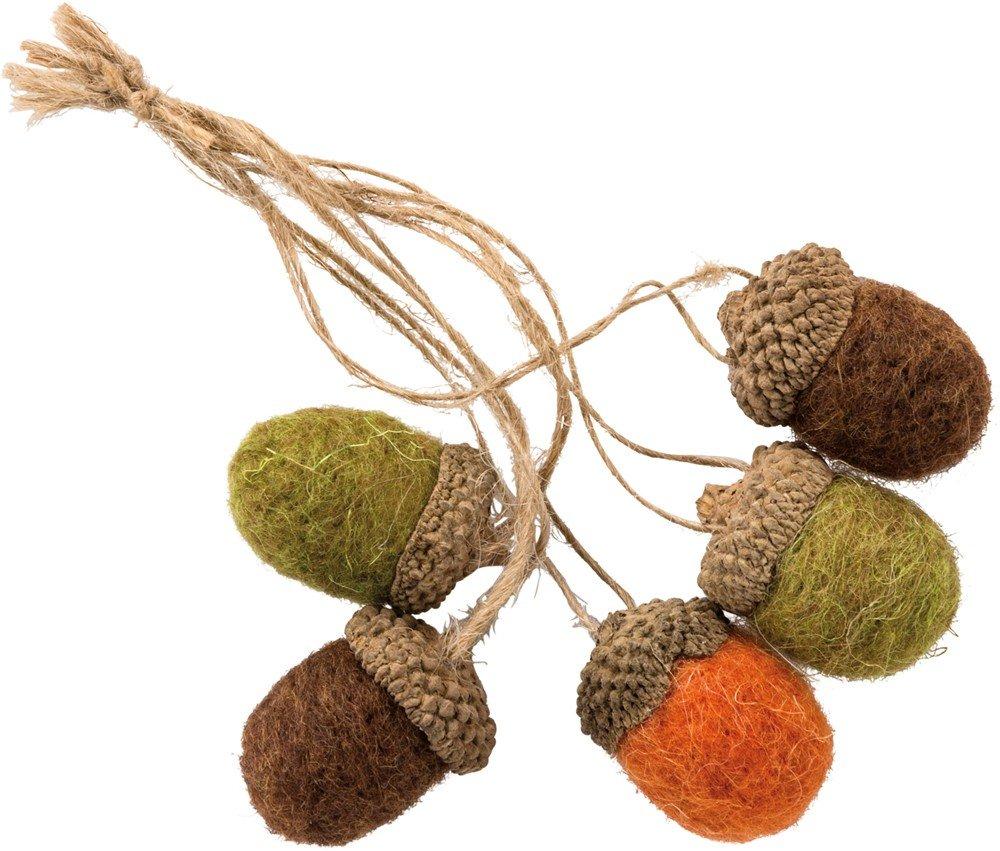 Primitives by Kathy PBK Fall Decor - Autumn Felt Fall Acorns Ornaments by Primitives by Kathy