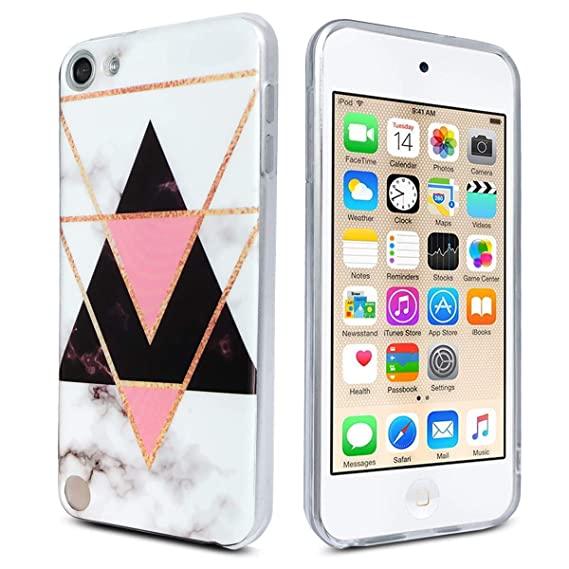 huge discount 7203b b121f J.west iPod Touch Case 6th Generation,iPod Touch 6 Case,iPod Touch 5th  Generation Case Marble Design Slim Anti-Scratch Flexible Soft TPU Bumper  Back ...