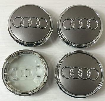 BBSS - Juego de 4 tapacubos de aleación para Audi 77 mm, Color Gris y