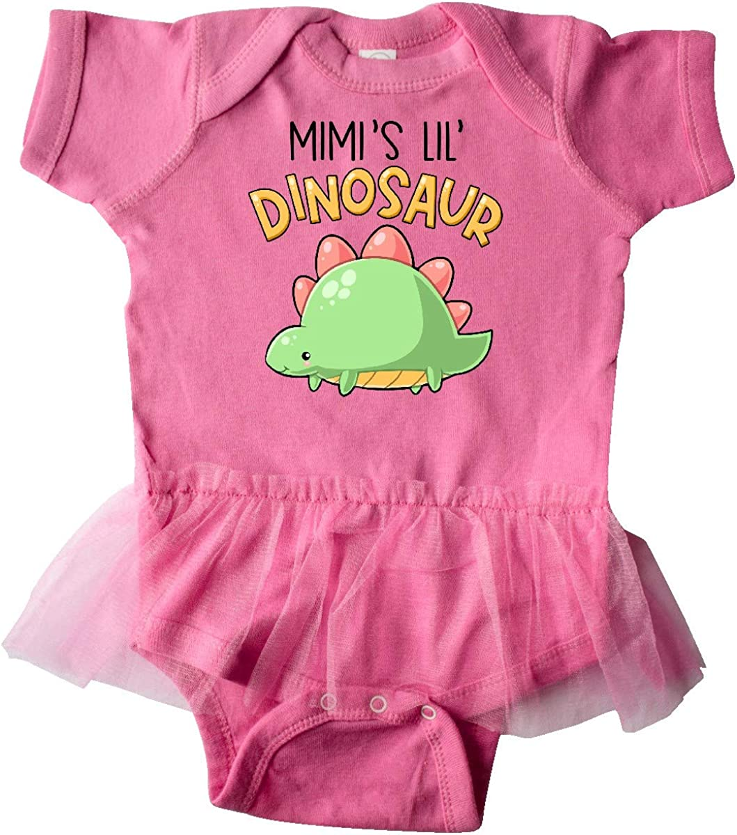 inktastic Mimis Lil Dinosaur with Cute Stegosaurus Infant Tutu Bodysuit