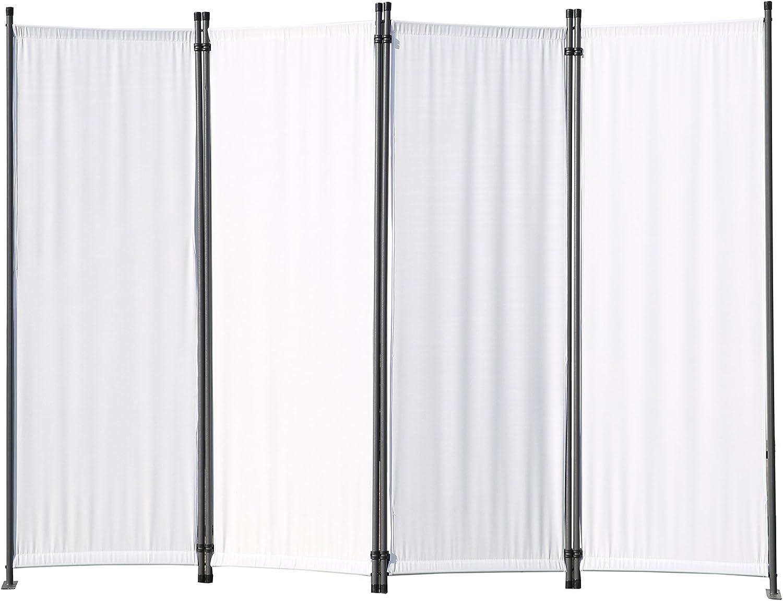 Angel Living Biombo Separador de 4 Paneles, Decoración Elegante, Separador de Ambientes Plegable, Divisor de Habitaciones, 225X165 cm (Blanco): Amazon.es: Hogar