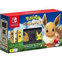 Nintendo Switch Pikachu & Eevee Edition + Pokemon Let's Go Eevee + Pokeball Plus