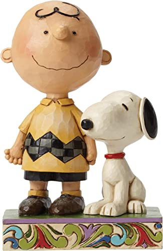 Jim Shore Life is Better with a Dog Charlie Brown and Snoopy Figurine 4042387