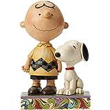 Enesco 4042387 Peanuts by Jim Shore Friendship Charlie Snoopy