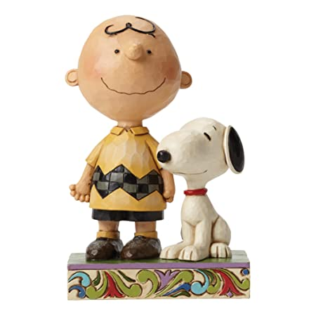 Jim Shore Peanuts Life is Better with a Dog Charlie Brown and Snoopy Figurine