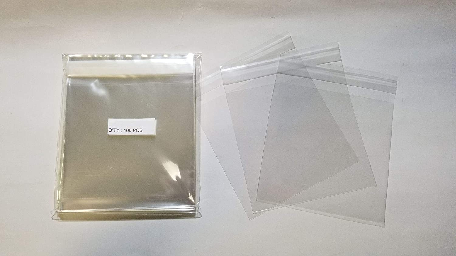 "100 5 1//8/"" x 4 3//4/"" Clear Resealable Cello//Poly Bags Envelopes"