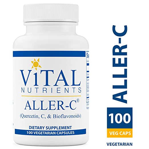 Vital Nutrients - Aller-C (Quercetin, Vitamin C, and Bioflavonoids) - Respiratory & Sinus Support with Hesperidin - Gluten Free - 100 Capsules