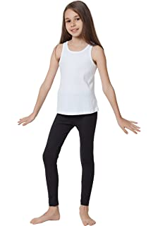 7313ce5e CAOMP Girl's Ankle Length Leggings, Certified Organic Cotton Spandex, School  or Play