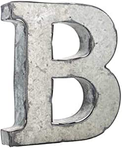 Wisechoice Decorative Alphabet Metal Wall Decor Letter B | Perfect for Home Display -Silver, 3.75 Inch L x 3.3 Inch W