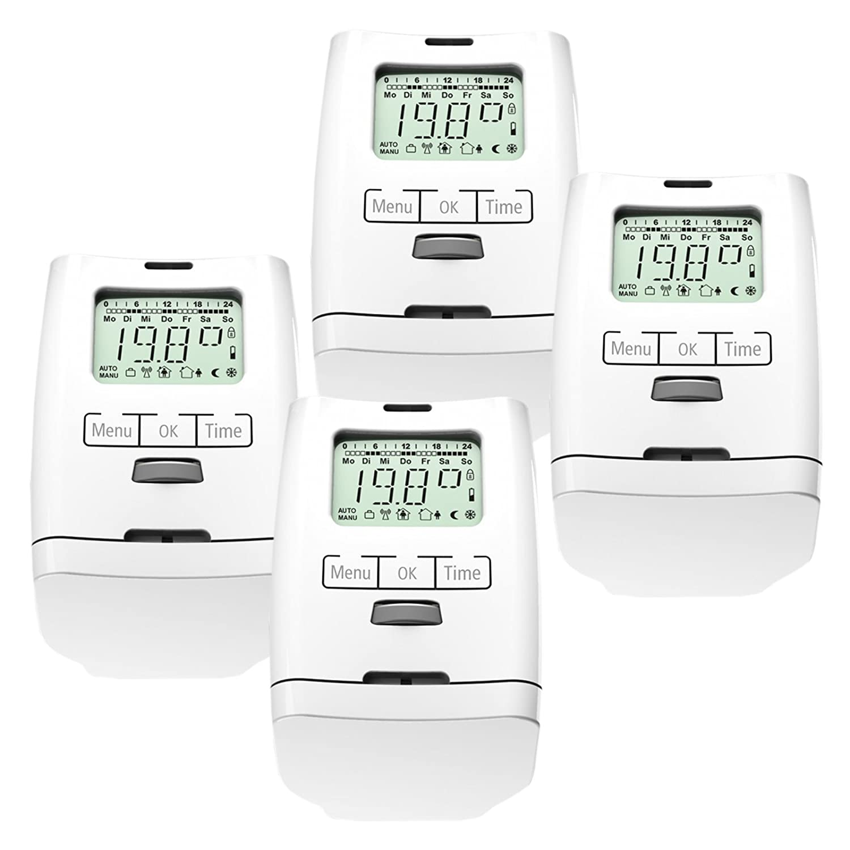 4 Stü ck Premium Elektronischer Heizkö rperthermostat Thermostat Thermostatventil HT 2000 Made in Germany OLYMPIA