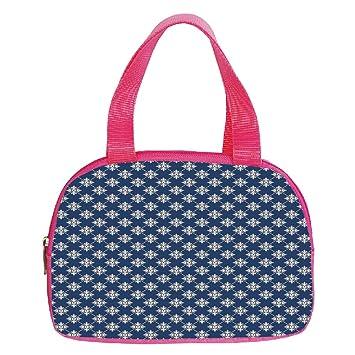 Polychromatic Optional Small Handbag Pink40th Birthday DecorationsBig Color Dots And Graphic Cake