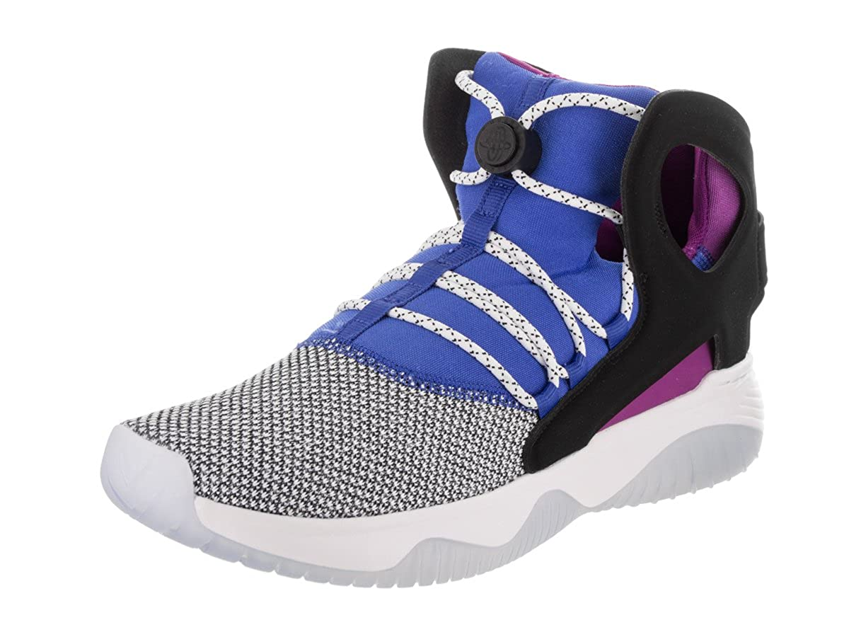 28c30e5d4fef Nike Men s Air Flight Huarache Ultra White Black Lyon Blue Basketball Shoe  9 Men US  Buy Online at Low Prices in India - Amazon.in
