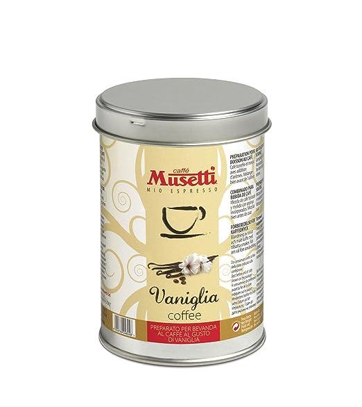5 opinioni per MUSETTI- CAFFE' AROMATIZZATO PER MOKA ALLA VANIGLIA LATTINA DA 125g.