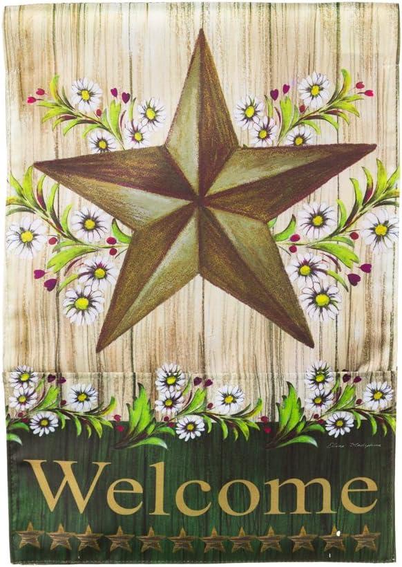 Evergreen Enterprises, Inc Bloom Pockets Country Star Garden Flag