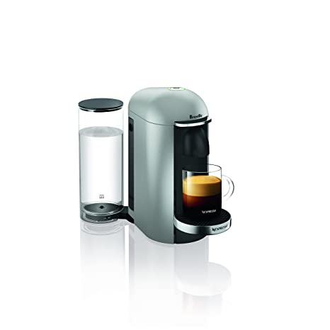 Breville-Nespresso USA BNV420SIL1BUC1 VertuoPlus Coffee and Espresso Machine, Silver